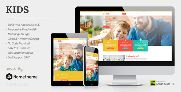 KIDS - Kindergarten and Child Care Muse Templates