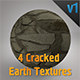4 Cracked Earth Textures Pack - 3DOcean Item for Sale
