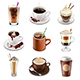 Coffee Drinks Icons Vector Set - GraphicRiver Item for Sale