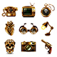 Steampunk Icons Vector Set - GraphicRiver Item for Sale