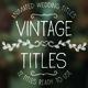 Vintage Titles - VideoHive Item for Sale