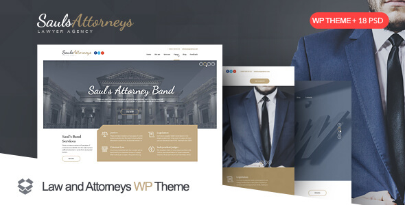 Lawyer & Attorney WordPress Theme - SaulsAttorneys