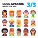 Set of Avatars Part 3/3 - GraphicRiver Item for Sale