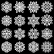Snowflakes Icons Set - GraphicRiver Item for Sale