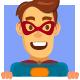 Superhero Cartoon Mascot - GraphicRiver Item for Sale