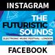 Futuristic Sounds Festival and Event Facebook/Instagram Templates - GraphicRiver Item for Sale