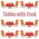 Set of Tables with Food - GraphicRiver Item for Sale
