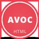 Avoc - Minimal Portfolio / Agency Template - ThemeForest Item for Sale