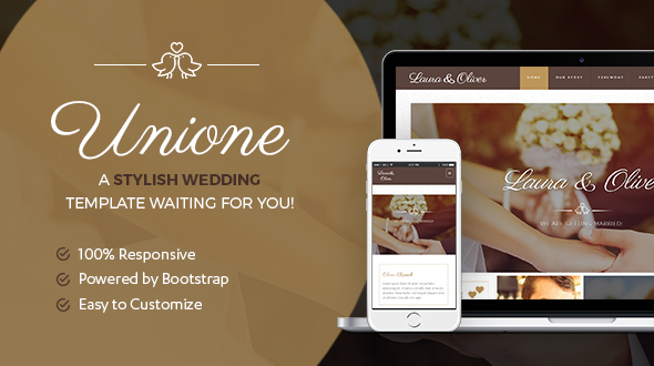 Unione Wedding | A Bride and Groom template