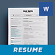 Simple Resume/Cv Volume 8 - GraphicRiver Item for Sale