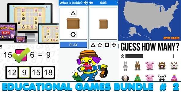Educational Games Bundle #2 - 6 HTML5 Games (CAPX included) Download