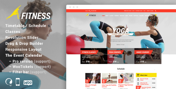 Gym Fitness - WordPress