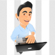 3D Information Technology Technician with a Laptop - GraphicRiver Item for Sale