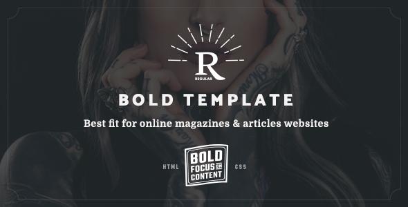 Download Regular – Bold Content Blog & Online Magazine Website Template Nulled