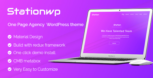 StationWP - Agency WordPress theme