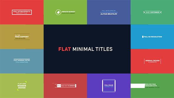 Flat Minimal Titles 2