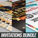 Retro Birthday Invitations Bundle - GraphicRiver Item for Sale