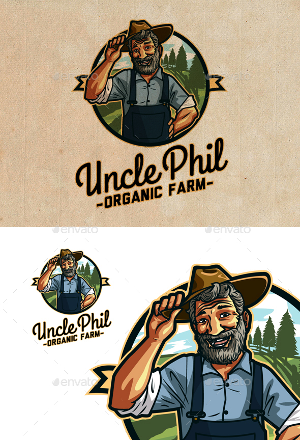 Uncle Phil's Organic Farm - Farm & Garden Logo