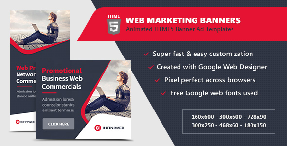 HTML5 Ads - Web Marketing Banner Templates Download