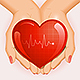 Medical Background with Heart in Hands - GraphicRiver Item for Sale