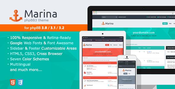 Marina — Responsive & Retina Ready phpBB3 Theme