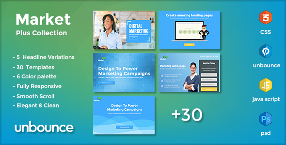 MarketPlus - Marketing Unbounce Landing Page Pack