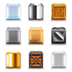 Different Boxes Icons Vector Set - GraphicRiver Item for Sale