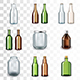 Glass Bottles Icons Vector Set - GraphicRiver Item for Sale