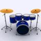 Low Poly Drums Set - 3DOcean Item for Sale