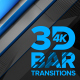 3D Bar Transitions 4K [Diagonal] - VideoHive Item for Sale
