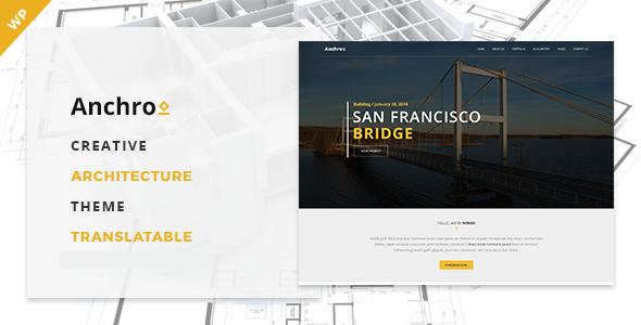 Anchro – Creative Architecture WordPress Theme