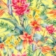 Watercolor Vintage Floral Tropical Seamless - GraphicRiver Item for Sale