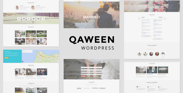 Qaween - Wedding WordPress Theme Download