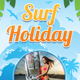 Surf Holiday Vacation Rollup Banner 84 - GraphicRiver Item for Sale