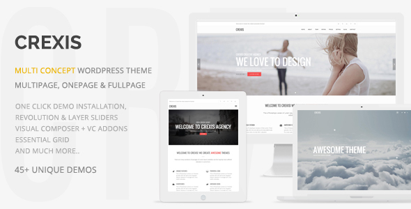 Crexis - Responsive Multi-Purpose WordPress Theme