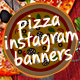 Pizza Instagram Promotional Templates - GraphicRiver Item for Sale