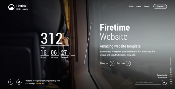 Firetime – A Freshly New creative template for Coming soon page