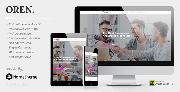 OREN - Responsive Multipurpose Adobe Muse Template