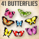 Vector Butterflies Illustrations - GraphicRiver Item for Sale