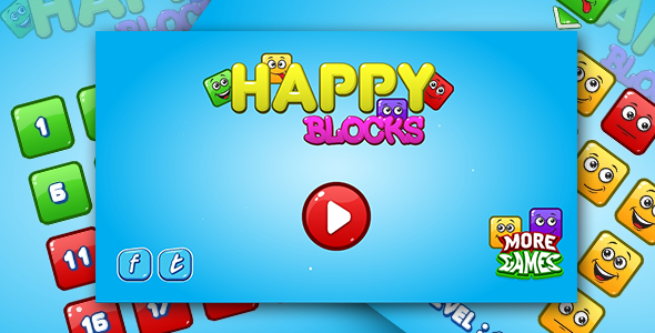 Happy blocks - HTML5 logic game. Construct 2 + mobile Download