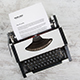 Typewriter A4 Paper Mockup - GraphicRiver Item for Sale