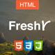 Freshr - Responsive Resume / CV HTML5 Template - ThemeForest Item for Sale
