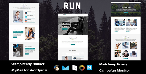 Run - Multipurpose Responsive Email Template with Stampready Builder Access