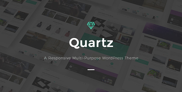 Quartz - A Responsive Multi-purpose WordPress Theme