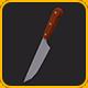 Low Poly Kitchen Knife v.1 - 3DOcean Item for Sale