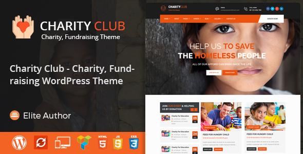 Charity Club - Charity/Fundraising WordPress Theme