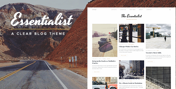 Essentialist — A Narrative WordPress Blog Theme
