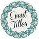 36 Event Titles - VideoHive Item for Sale