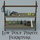 Low Poly Pirate Furniture - 3DOcean Item for Sale
