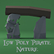 Low Poly Pirate Nature - 3DOcean Item for Sale